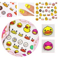Cheap 2 Sheets 3D Mixed Design Decal Stickers Nail Art Acrylic Manicure Tips DIY Decoration HOT