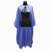 Wholesale Hairdressing Cape With Window PVC Clear Playing Phone Hair Cutting Cape Waterproof Black Purple White Color Mixed Order New Styling