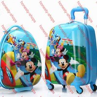 Wholesale Authentic Cute Cartoon Travel Bags inch Wheels Children Pull Rod Box Board Kids Luggage Suitcase