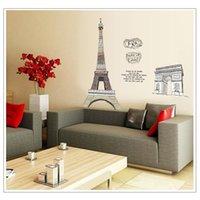 triumph - DIY Eiffel Tower Arch of Triumph Removable Wall Sticker Home Decor Art Mural Poster Adesivos Decorativos Adesivo De Parede H15054