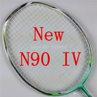 Wholesale Lining badminton racket N90iii N90IV with string overgrip uk pounds Lining badminton racket N90 IV raquete badminton sweat n90 A5 A5