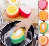 Wholesale Korean Creative Fruit Thick Kitchen Sponge Cloth of kitchen accessories New arrival Kitchen Sponge Towels on kitchen cooking tools HX