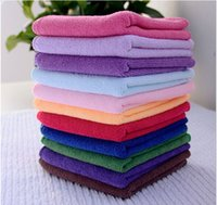 Wholesale Car Or Home Cleaning Towel x25cm Microfiber Microfibre Detailing Polishing Scrubing Cleaning Hand Towel Wash