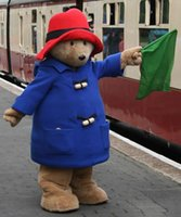 Wholesale customized Paddington Bear Mascot Costume Cartoon Character Fancy Dress Adult Outfit