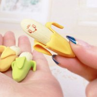 Wholesale Lovely Mini Banana Erasers Novelty Stationery Gifts School Supplies