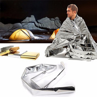 thermal blanket - 100pcs Waterproof Emergency Survival Foil Thermal blanket First Aid Rescue Blanket emergency blanket