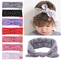 Wholesale New Arrivals Infant Baby Girls Kids Headband Children s Hair Accessories Dot Bow Cloth EA37