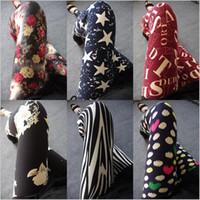 Wholesale 20 Colors Sexy Leggings for women Micro fiber Leggings Elastic printed Leggings ankle length pants Leggings LA21