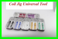 4 Sizes A Set Electronic Cigarette Kuro Koiler Coil Jig 2015 Universal Tools 6 in 1 Kit Coil Jig Coiler Winding Coiling Builder Heating Wire Wick Tool With Screwdriver For DIY RDA