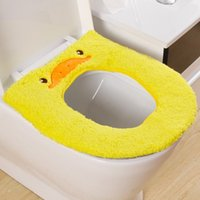 Wholesale Lovely cartoon thickened plush cartoon animal toilet pad winter warmer toilet seat covers