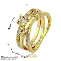 Cheap Love Rhinestone Finger Rings 18K Rose Gold Plated Fashion Brand CZ Diamond Jewelry For Women