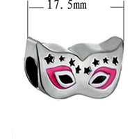 access food - Fits Pandoar Bracelets European Fashion Unique Silver mysterious mask beads Fit Women Pandora Bracelet Bangle DIY jewelry access
