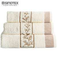 bath towel embroidery - 3 Cotton Handkerchief Towel Bath Towel Solid Embroidery Towel Washclothes x50cm x90cm x135cm