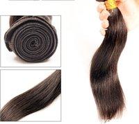 Brazilian 8A Cheveux 8-30 pouces Brazilian Hair Malaysian péruvienne Indian Human Hair Extensions Virgin cheveux raides 3pcs Grands Tissages Qualité