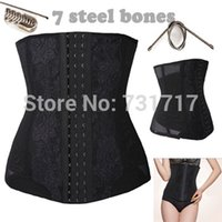 authentic steel boned corsets - Women Authentic Full Steel Boned Underbust Waist Cincher Shaper Body Control Corset FD96