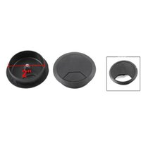 Wholesale PC Desk Black Plastic mm Diameter Flip Top Cable Hole Cover Fast Shipping order lt no track