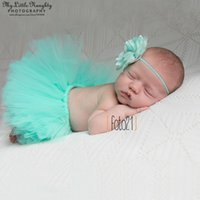 Boy newborn props - 12 colors Newborn tutu skirt sets photography props baby girl tutu and flower headband set Christmas studio photoshoot outfits