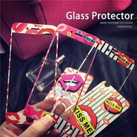 Wholesale iPhone s Plus Premium Tempered Glass Flim D Red Lips Design for iPhone Plus Retail Package Explosion Proof Membrane