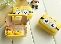 Wholesale Minions Contact Lens Cleaner Cartoon Contact Lenses Case Lens Storage set Boxes Spring Style In Stock