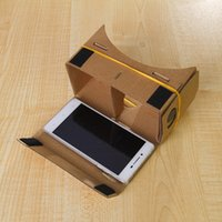 Wholesale DIY Cardboard Virtual reality VR mobile phone D glasses Virtual Reality D Viewing Glasses for Iphone S plus Samsung S6 edge S5 Nexus