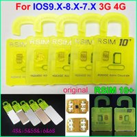 Wholesale Original RSIM rsim R sim thin unlock card for ios9 X IOS8 IOS7 iphone s s s AT T T mobile Sprint WCDMA GSM CDMA G G