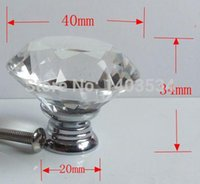 Wholesale 40pcs mm Furniture K9 Crystal Drawer Pulls and Knobs for Ccabinet Kitchen Hardware