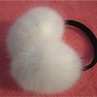 Wholesale 1602 Winter Spring Autumn Women Warm Fur Earmuffs Girl s Earlap Ultralarge Rabbit Hair Earflap Ladie s Cute Eartab Plush Ear Muff
