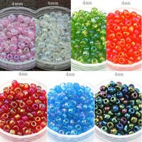 Cheap 500Pcs lot(about 50g lot)shining 4mm Czech Glass Seed Spacer Beads Jewelry Making DIY 8 Colors F1915