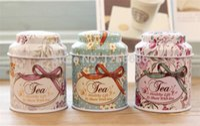 Wholesale 100pcs cute floral Tin Storage box sealing cover tea box candy box