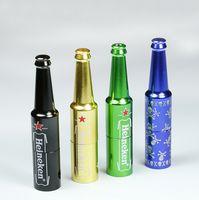 aluminum water filter - 2016 New Arrival Bottle Shaped Pocket Mini Water Pipes Bongs Perc Aluminum Smoking Pipe Hookah Hose Shisha Reggae Tobacco Filter Health Care