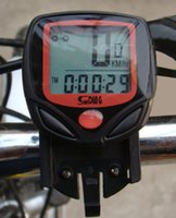 Wholesale Cycling Computer Leisure Functions Waterproof Odometer Speedometer With LCD Display Bike Speedometer Bicycle Cycling Computer Good