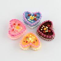 Wholesale 5pcs x33x11mm Resin Mini Cake Dessert Charms Food Pendants Mix for Key Chain DIY Jewelry Making supplies Pandahall Craft