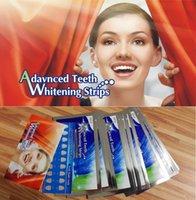 Wholesale 28pcs Strips Advanced Teeth Whitening Strips Mint Flavor Hydrogen Peroxide Pouches applications Double Elastic Gel Strips