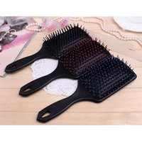 Wholesale 2PCS High Quality Professional Healthy Scalp Paddle Cushion Women Lady Girl Hair Loss Massage Brush Hairbrush Comb