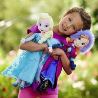 Wholesale CM High quality The Movie Frozen Plush Princess Elsa and Anna Plush Dolls Great Toys For Children