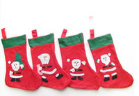 Wholesale Red Santa Socks Snowman Christmas Tee Patter Kid Gift Stockings Christmas Stocking