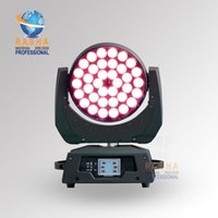 Wholesale Freeshipping New W RGBAW Zoom LED Moving Head Wash With Touch Screen LCD Display in1 Moving Head Light