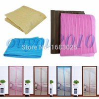 Wholesale 1Pcs High Quality New Arrival Colorful Magic Curtain Mesh Net Screen Door Magnetic Anti Mosquito Bug Fly Hands Free