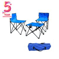 barbecue table settings - 3pcs set Quality Portable Outdoor Folding Table Chair for Beach Garden Barbecue Picnic Party Ceremony Furniture with Bag