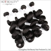 Loose Wave beauty products free shipping - 4Pcs Softest Peruvian Virgin Hair Loose Wave Human Hair Weaving Extensions Hot Beauty Hair Products