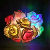 Wholesale Romantic Design Led Rose String LED Battery Operated Rose Flower String Lights Pink Lighting Wedding Garden Christmas Decor Lowest Price