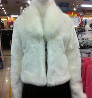 Wholesale 2015 Autumn winter New Fox fur collar Thicken Faux fur Mink vest woman waistcoat Warm Jacket Coat Outwear hot sell