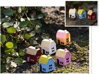 Wholesale Beautiful Miniature DIY Resin House Micro Landscape Garden Decoration Ornaments Accessory Potted Plants Decor Many Style