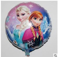 Wholesale 2015 Special Offer Rushed Foil Balloons Frozen National Minimum Inches of Snow And Ice Princess Cartoon Balloon Balloons Birthday Party