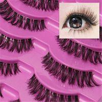 Wholesale Natural Pair Thick Long Crisscross False Eyelashes Fake Eye Lashes Beauty Makeup