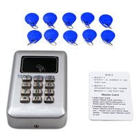 Wholesale Metal Keypad Access Control with Backlight for Entrance Gate Single Door Entrance Guard Machine Smart card khz Access WG26