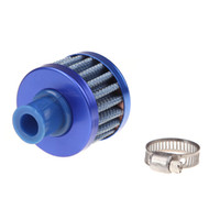 Blue air intake filter cone - Universal Car Air Filter Cleaner Cold Air Intake Auto Mini mm Valve Cover Reusable Crankcase Cold Vent Breather Cone