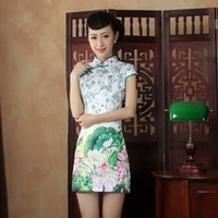Wholesale Fashion lday qipao chinese traditional dress vintage slim cheongsam party dress modren robe chinoise