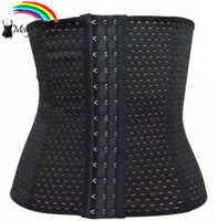 Wholesale New Magic colors Rows hooks Waist Cinchers Girdle Bustiers Air Holes Firm Waist Trimmer Plus Shapewear Black Body shapers Asian size L XL