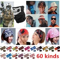 Wholesale Hot Sale Outdoor Sports Bicycle Riding Cycling Veil Multi Face Bandana Skull Scarves Wicking Seamless Head Scarf Cycling Caps